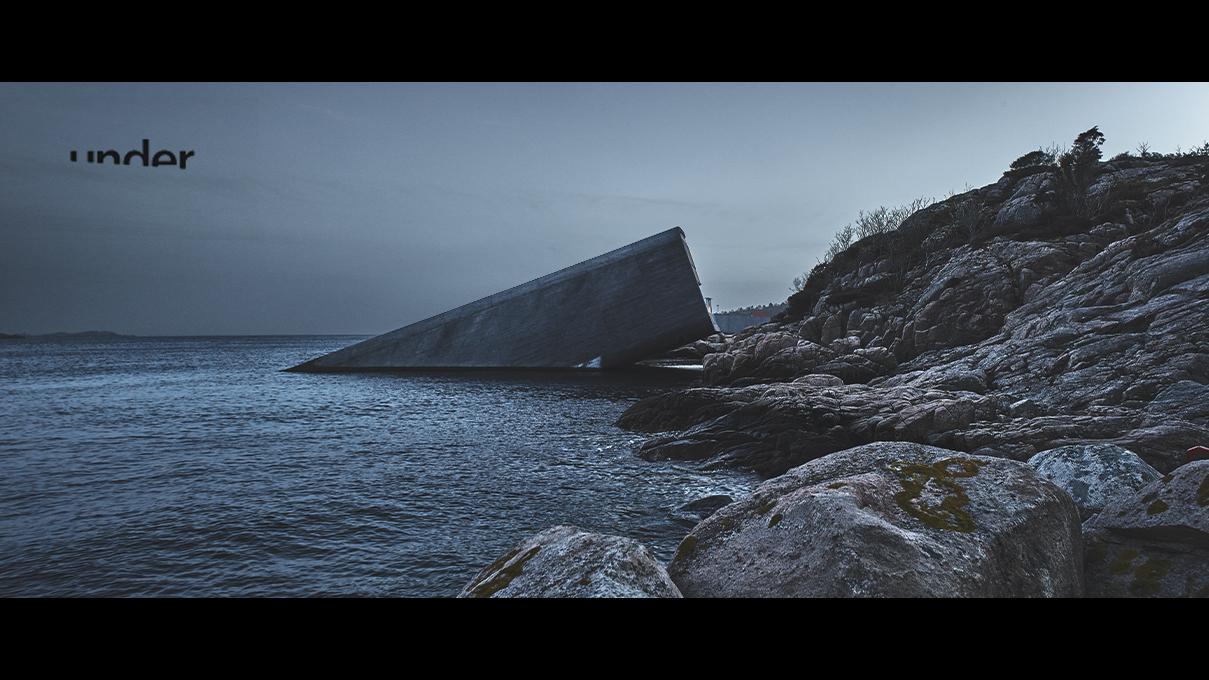 Vidéo en immersion dans le plus grand restaurant sous l'eau du monde, le restaurant Under en Norvège.